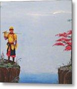 Soldier By Gorge Metal Print