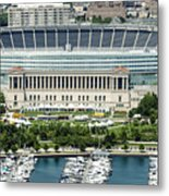 Soldier Field Stadium In Chicago Aerial Photo Metal Print