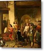 Soldiers In A Tavern During The Thirty Years Metal Print