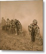 Soldiers In The Dust 2 Metal Print