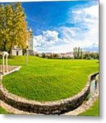 Solin Park And Church Panoramic View Metal Print