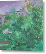 Solitary Almond Tree In Blossom Mallorcan Valley Metal Print