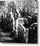 Solitary Cross At Fuerty Cemetery Roscommon Irenand Metal Print