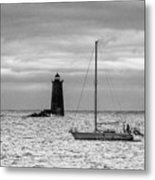 Solitary Sailor, New Castle Sunrise Metal Print