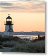 Solitude At Brant Point Light Nantucket Metal Print