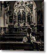 Solitude In Village Church Metal Print
