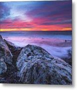 Solstice Sunrise At Jennes Beach Metal Print