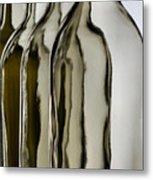 Somber Bottles Metal Print by Joe Bonita