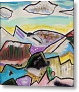 Some Gold In The Hills Metal Print