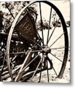 Some Wheels Stop Turning 1 Metal Print