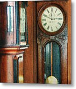 Somebodys Grandfathers Clocks Metal Print