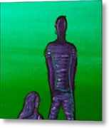 Someone To Watch Over Me-green Metal Print