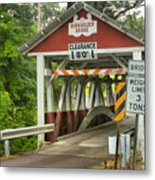 Somerset County Burkholder Covered Bridge Metal Print