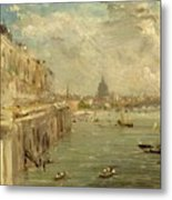 Somerset House Terrace From Waterloo Bridge Metal Print