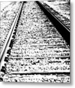 Something About The Railroad Tracks Metal Print