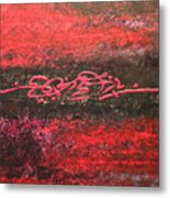 Something In Red Metal Print
