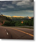 Sometime Life Throws You Curves, Enjoy The Ride Metal Print