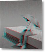Somewhere It's Raining - Use Red-cyan 3d Glasses Metal Print