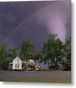 Somewhere Over The Rainbow Metal Print by Jan Amiss Photography