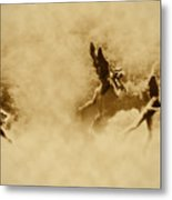 Song Of The Angels In Sepia Metal Print