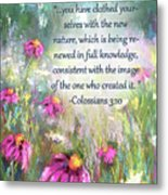 Song Of The Flowers With Bible Verse Metal Print