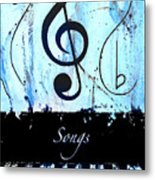 Songs - Blue Metal Print