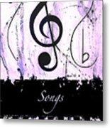 Songs - Purple Metal Print