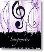 Songwriter - Purple Metal Print