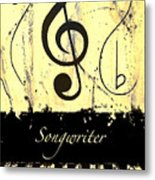 Songwriter - Yellow Metal Print