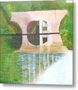 Sonning Bridge In Autumn Metal Print