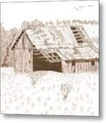 Sonora Barn Metal Print by Pat Price
