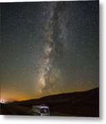 Sonora The Vw Bus Under The Milky Way Metal Print