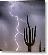 Sonoran Desert Monsoon Storming Metal Print