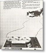 Sony Vintage Advert Metal Print