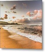 Soothing Seaside Scene Metal Print