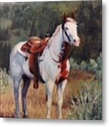 Sophie Flinders Paint Mare Horse Portrait Painting Metal Print