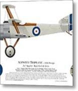Sopwith Triplane Prototype - Side Profile View Metal Print