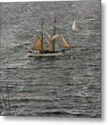 Soren Larsen Tall Ship Enters Sydney Harbour Metal Print