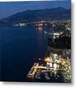 Sorrento Bay At Night Metal Print