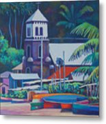 Soufriere Church Tower Metal Print