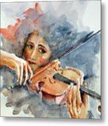 Sound Of Violin... Metal Print