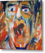 Soundless Scream Metal Print