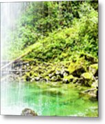 Sounds Behind The Falls Metal Print