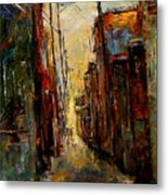 Sounds In The Alley Metal Print