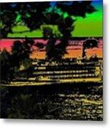 Soundside Treehouse View Metal Print