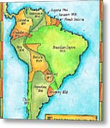 South American Independence Metal Print by Jennifer Thermes