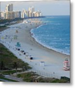 South Beach At Its Best Metal Print