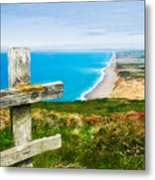 South Beach At Point Reyes Metal Print