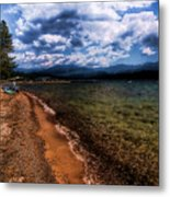 South Beach At Priest Lake Metal Print