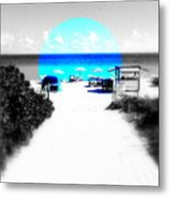 South Beach Blues Metal Print
